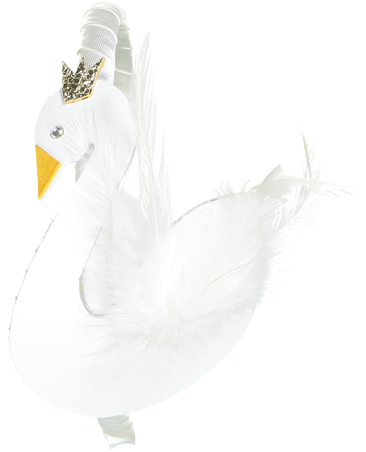SWAN LEATHER AND FEATHER HEADBAND