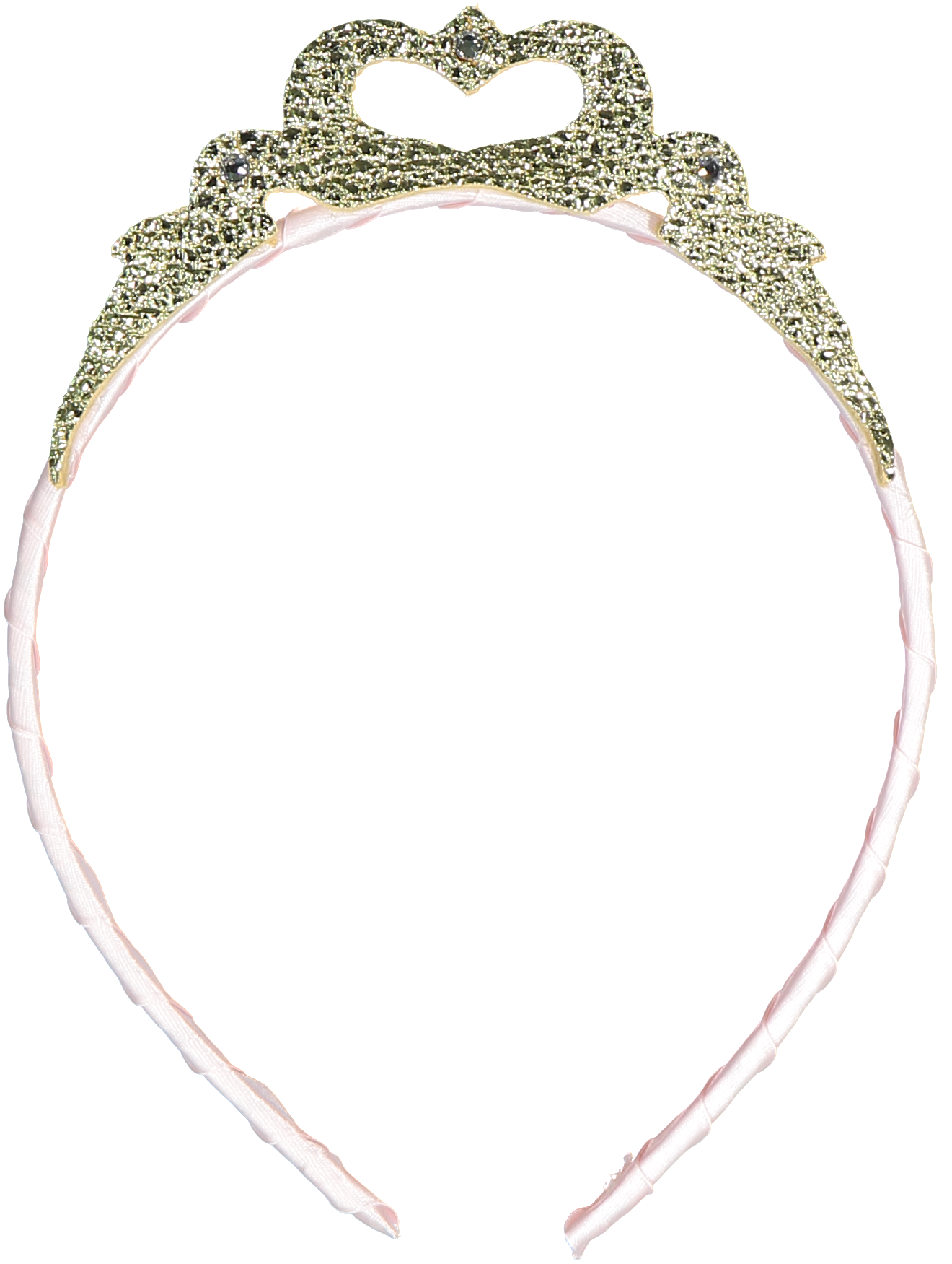HEADBAND LEATHER CROWN PRINCESS GOLD