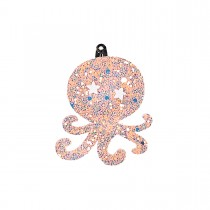 HAIRCLIP LEATHER OCTOPUS