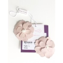 JASMINE LEATHER HAIRCLIPS POWDER PINK