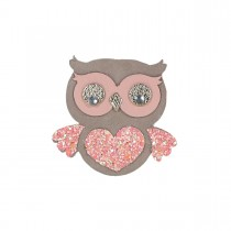 HAIRCLIP LEATHER OWL