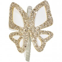 BIG BUTTERFLIES LEATHER HEADBAND GOLD