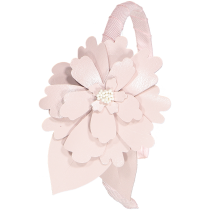 JASMINE FLOWER LEATHER HEADBAND PINK
