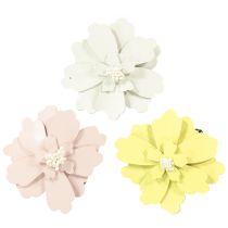 LEATHER HAIRCLIP FLOWER JASMINE