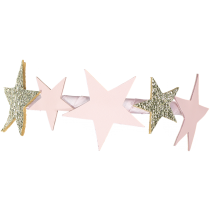 LEATHER STARS GOLD AND POWDER PINK